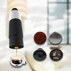 Mini Hand Pressure Portable Capsules Coffee Machine Cooking Cup Manual 21 Bar Italian Espresso Maker Extraction Pot Hand Coffee(China)