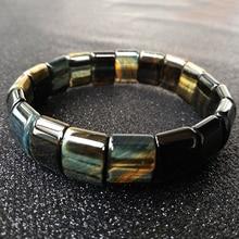BOEYCJR синий и желтый Волшебный тигровый глаз натуральный камень бусины браслеты и браслеты ручной работы ювелирные изделия энергетический браслет для мужчин
