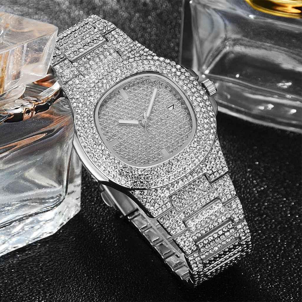 2020 moda feminina rosa ouro relógios de luxo aço strass relógio de quartzo senhoras saat diamantes completos relógio relogio feminino