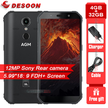 """AGM A9 5.99"""" 18:9 4GB RAM 32GB ROM IP68 Waterproof 5400mAh Battery Smartphone NFC OTG Android 8.1 Quick Charge Rugged Cellphone"""