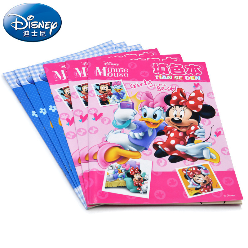 Disney Children's Cartoon Coloring Book Mickey Minnie Drawing Book Mickey Mouse Kindergarten Coloring Book