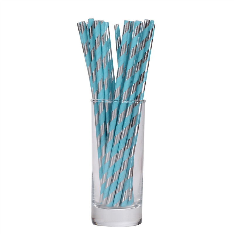 New Products Double Color Bronzing Paper Sucker Structure Recycled Paper Straw Color Originality Straw Disposable Straws Pink Br