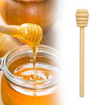 5 sztuk wysokiej jakości drewniany patyczek mieszając pręt łyżka Dip długi Mini miód pszczeli łopatka Muddler mieszadło na garnek na miód dystrybucji tanie i dobre opinie CN (pochodzenie) Drewna Honey Spoons