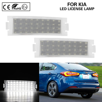 цена на A Pair LED license plate lamp LED number plate light Car Accessories For KIA Forte Koup 2009-2017