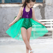Girls Mermaid Christmas Dress Summer Beach Clothes for Kids Children's Cosplay Costume Halloween Carnival Party Accessories