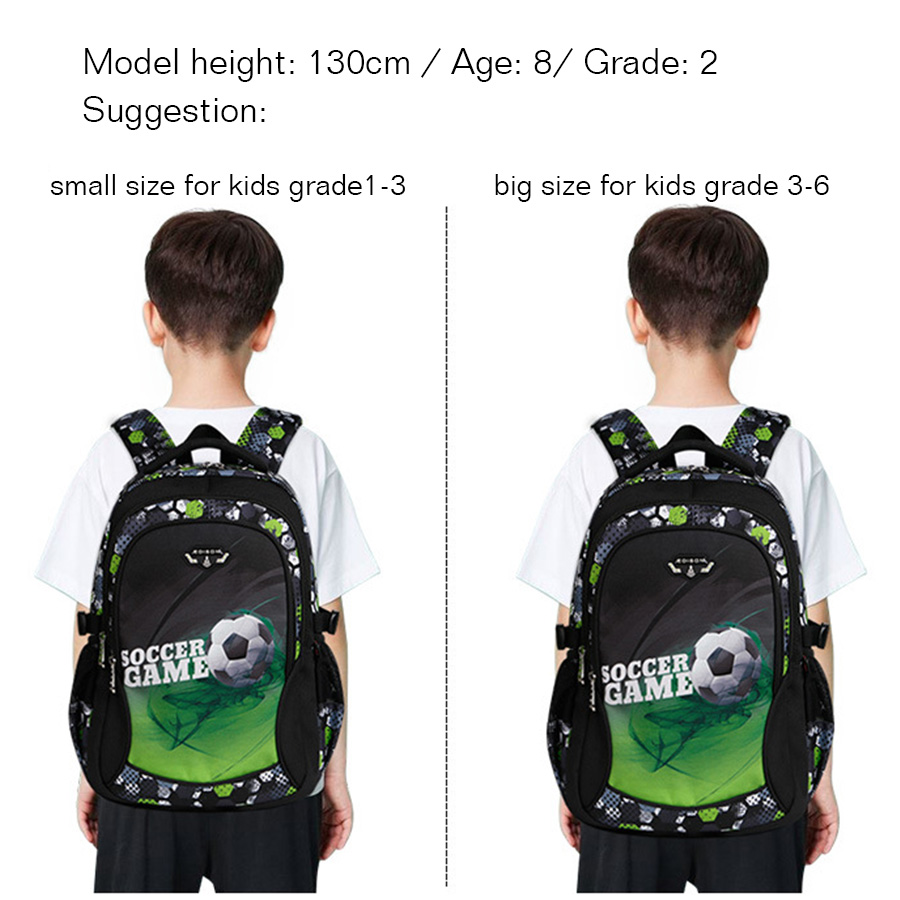 Impressão de futebol escola mochilas para crianças