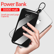 30000 MAh Dual USB Wireless Power Bank Waterproof Full Scree