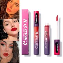 10 Colors Matte Lip Gloss Moisturizing Non-stick Cup Waterproof Long-lasting Glaze Velvet Liquid Lipstick New