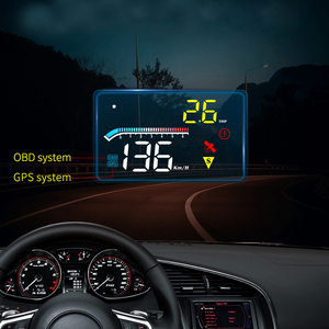 Smart M17 HD HUD Head-up Display ODB Projector Speed,RPM,Water Temperature,Voltage,Trip Distance Universal Auto