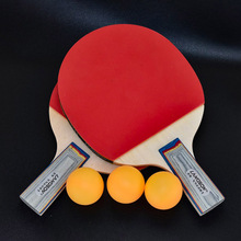 Landson 2 Racket+3 Balls Professional Table Tennis Rackets with Double Face Pimples-in Table Tennis Rubber Ping Pong Racket personality double tennis racket necklace