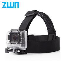 Elastic Adjustable Head Strap belt Mount For EKEN h9/h9r series Go pro Hero 4 3 2 and sj4000 series with anti-slide glue(China)
