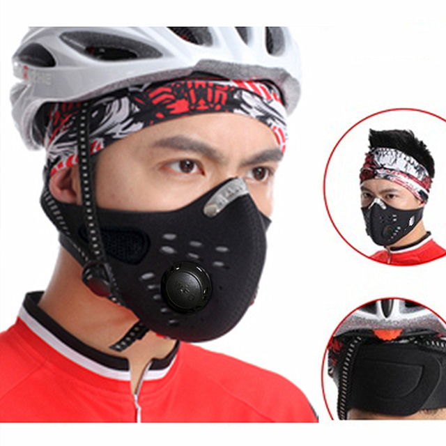 WOSAWE Safety Motorcycles Masks Filter Breathable Dustproof Motorbike Respirator Sports Protection Mouth Face Shield Visor 1