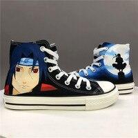 Wen Hand Painted Shoes Anime Design Custom Naruto Shippuuden Uchiha Itachi High Top Men Women's Canvas Sneakers for Gifts