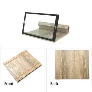 Lupa de 12 pulgadas para pantalla de teléfono móvil, soporte de madera para tableta, plegable, amplificadora estereoscópica, para escritorio