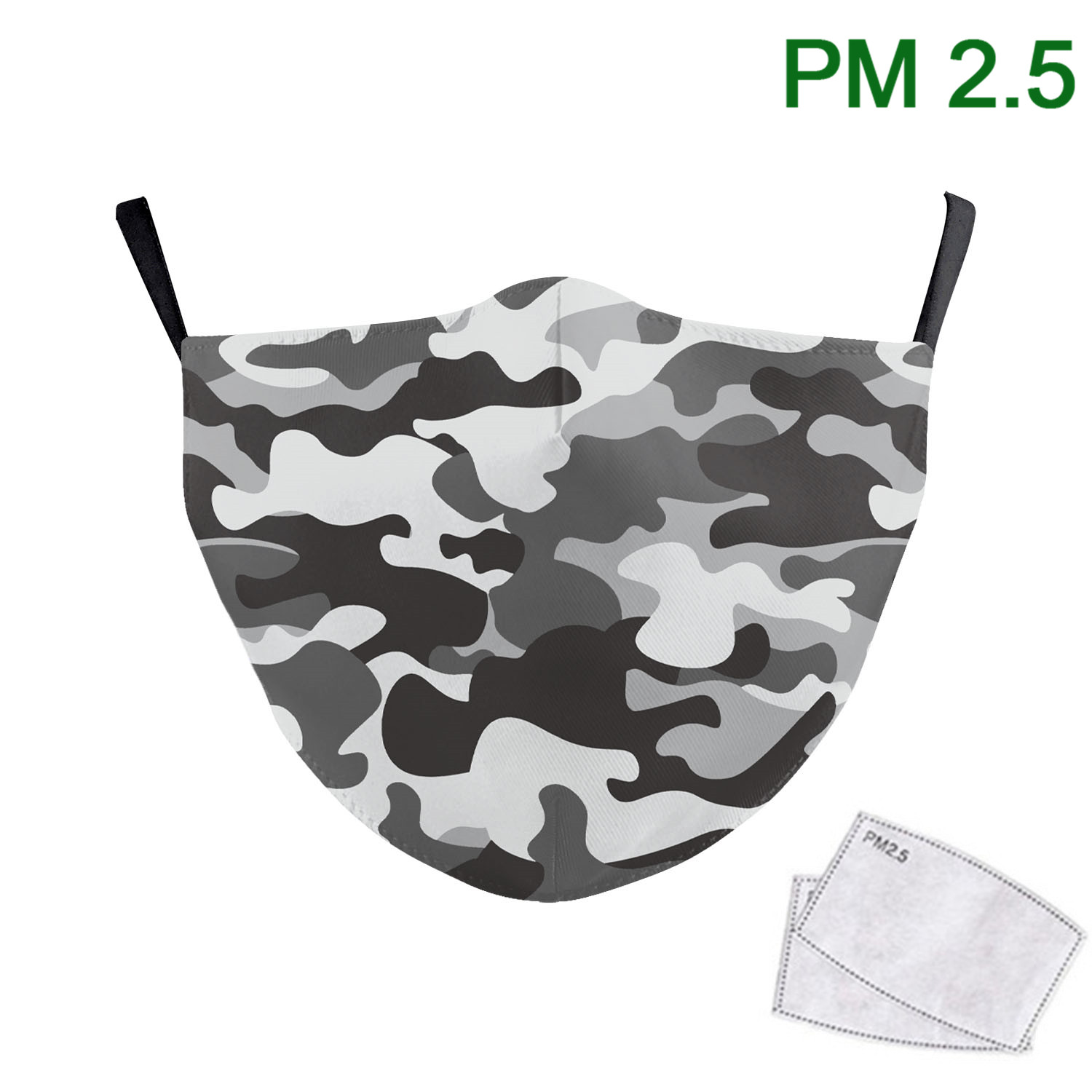 Colorful Classic Camouflage Face Mask Adult Print Fabric Reusable Mask Washable PM 2.5 Protective Filter Air Purity Mouth Muffle