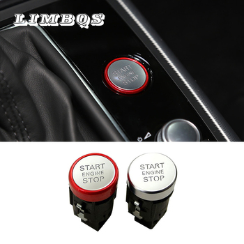 Car start stop engine switch fit for AUDI A4L Q5 one button Ignition start close chrome keyless ignition control engine switch