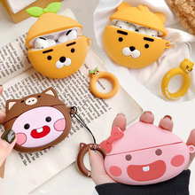 For Airpods Pro 3D Cute Cartoon Pig Peach Earpods Case for Apple Airpods 3 Lion