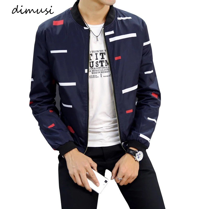 DIMUSI Spring Autumn Men's Bomber Zipper Jacket Fashion Male Anorak Hip Hop Coats Men Outwear Slim Fit Baseball Jackets Clothing