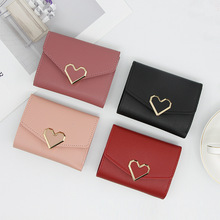 2019 New Money Small Wallet Women Casual Solid Fashion Female Short Mini All-match Korean Students Love