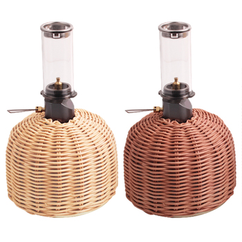 Outdoor Cooking Gas Cylinder Cover Camping Hiking Portable Rattan Gas Tank Protector Storage Pouch