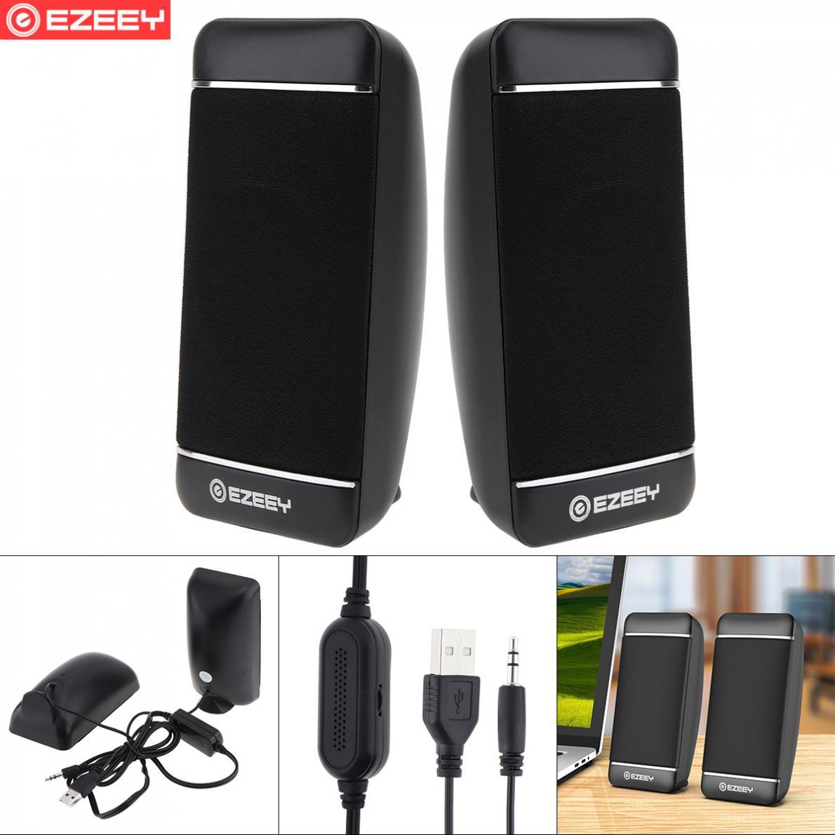 EZEEY S4 USB 5V Subwoofer Speaker with 3.5MM Audio Socket and Volume Control