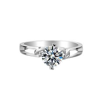 BOEYCJR 925 Silver Heart 0.5/1ct F color Moissanite VVS1 Elegant  Engagement Wedding Ring With certificate for Women Gift 1
