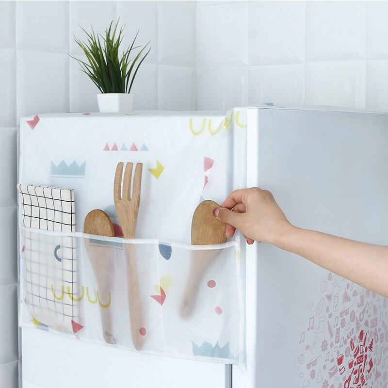 Refrigerator Organizer Single Double Door Fridge Cover Drum Washing Machine Dust Cover Kitchen Household Item