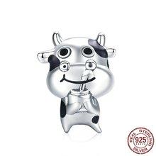 Животное Шарм в виде коровы 925 стерлингового серебра домашних