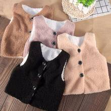 Waistcoat Baby Kids Solid V-Neck for Fashion Outwear Boys Girls Winter Warm Toddler Cute
