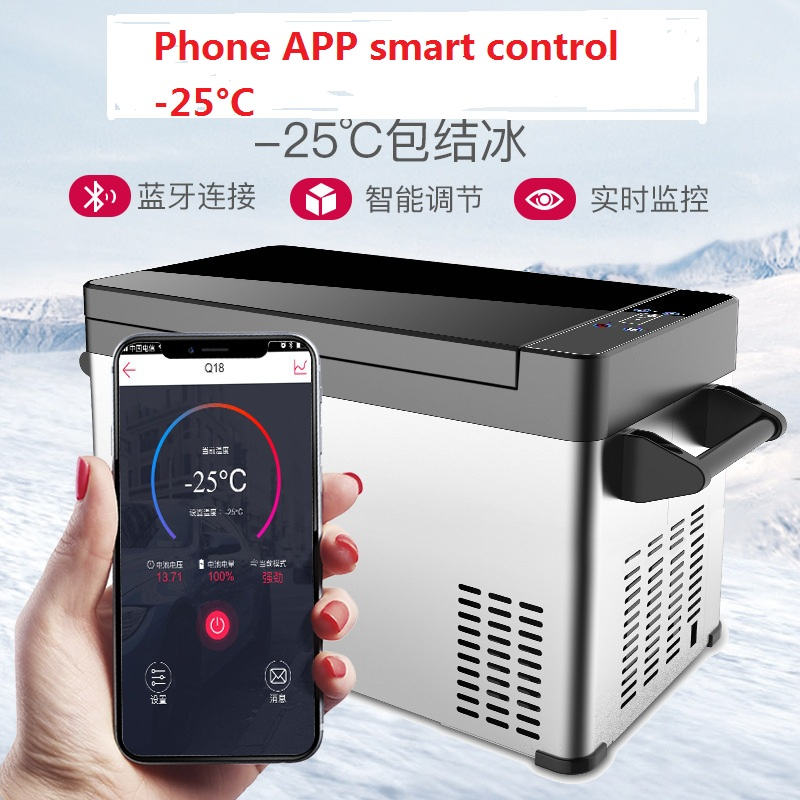 -25C APP Control Compressor Refrigerator Camping Dual Use Mini Refrigerator Large Capacity Freezing Refrigeration Car Fridge