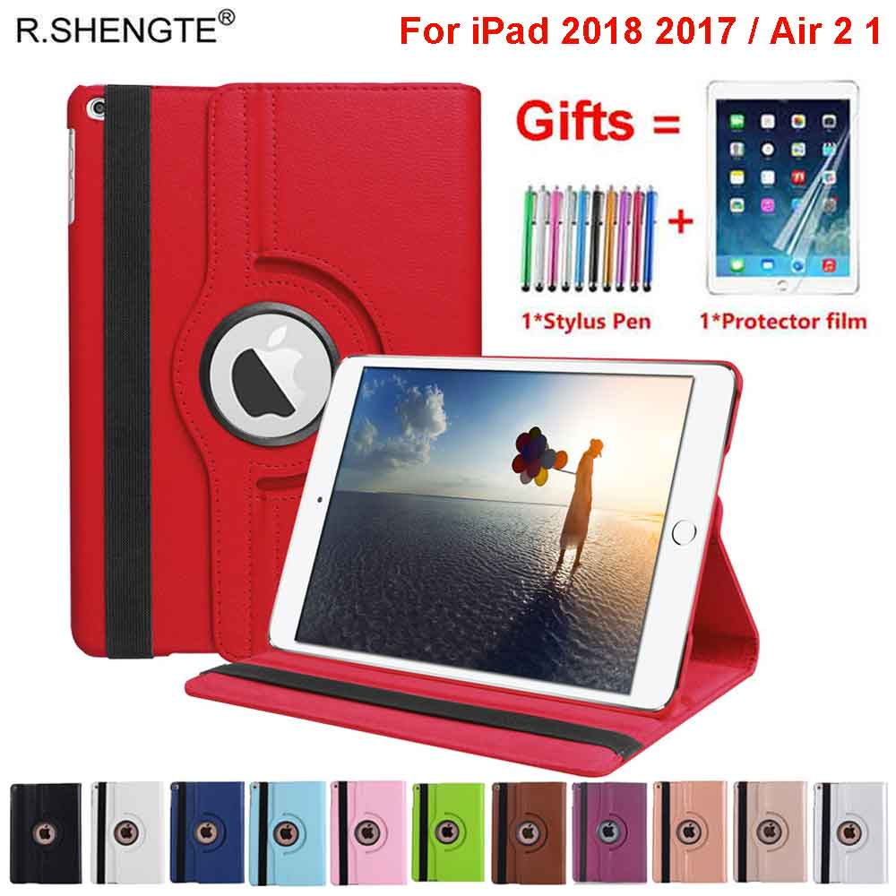 360 Rotating Case For iPad 9.7 2018 2017 Case Folio Leather Stand Smart Cover for iPad Air 1 2 5th 6th Generation Case Coque