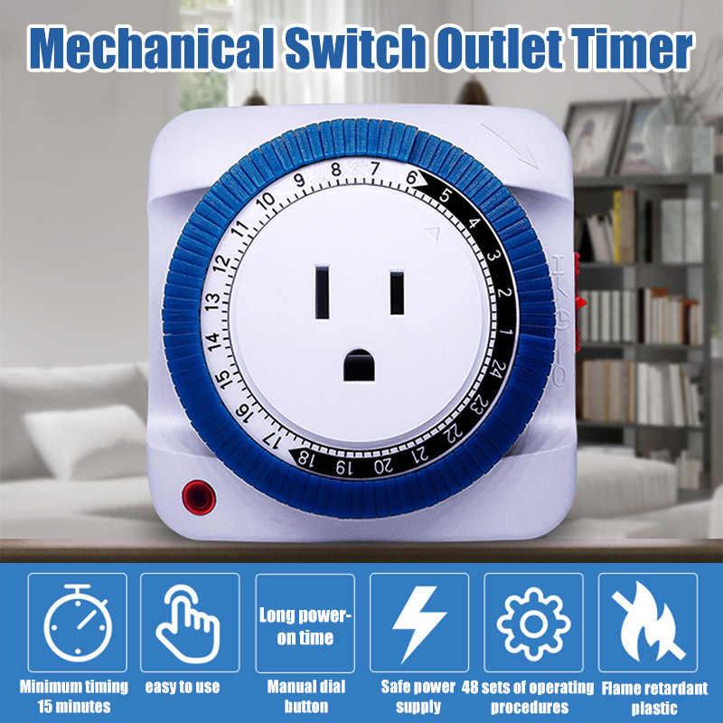 24 godzin Timer mechaniczny przełącznik gniazdo elektryczne ścienne gniazdo elektryczne zegar użytku domowego TN88