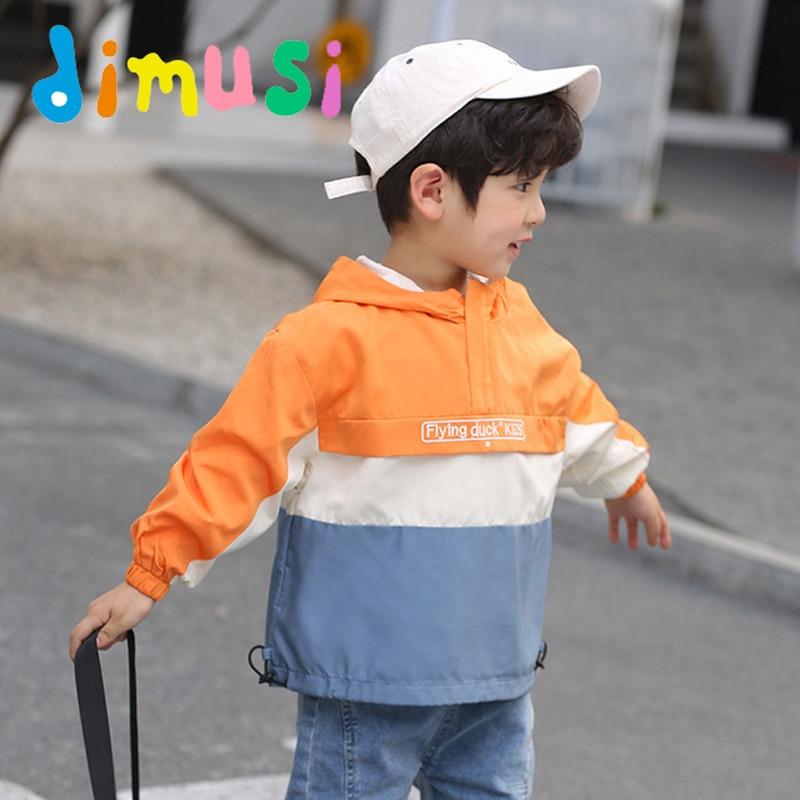 ELINKMALL Toddler Boy Autumn Lightweight Windbreaker Jacket Hooded Outerwear
