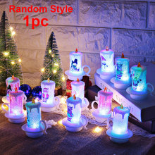 Christmas Night Cute Snowman Table Party Flickering Flameless Decoration Portable LED Electronic Candle Light PVC