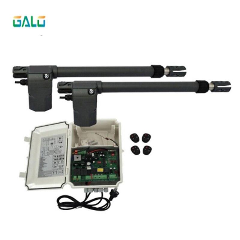 GALO Heavy Duty Worm Gear Automatic Swing Gate Opener 400KG Per Leaf(photocells,lamp,button,keypad,gms Operator Optional)