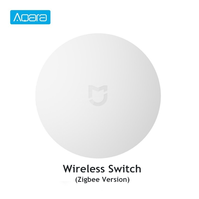 Aqara Wireless Switch Mini Work With Gateway 2 Zigbee Smart Home Remote Control Works With Mi Home APP Building Automation     - title=