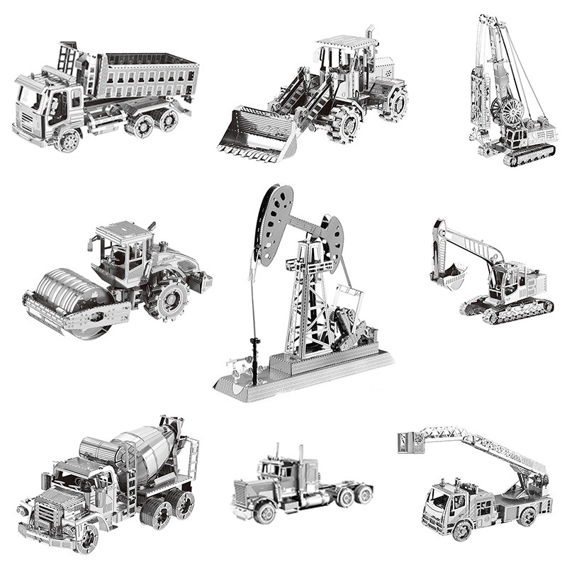 Engineering Car Heavy Machinery 3D Metal Puzzles Mining Truck Laser Cut Manual Jigsaw Kits Adults Children Educational Gifts