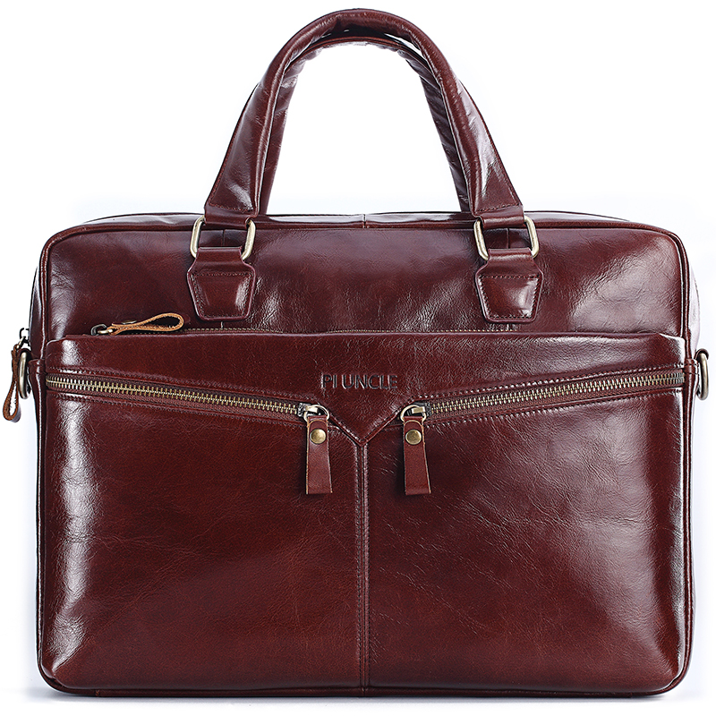 PIUNLE Bag Men's Genuine Leather Briefcase Male Man Laptop Bag Natural Leather For Men Messenger Bags Men's Briefcases 2019