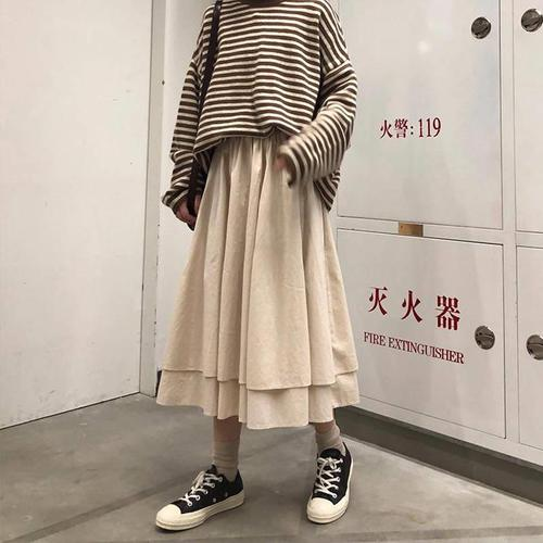All Match Casual Loose Solid Simple Fresh Patcwork Classic Women Hit Hot Sale New Arrival 2020 Women Female Skirts