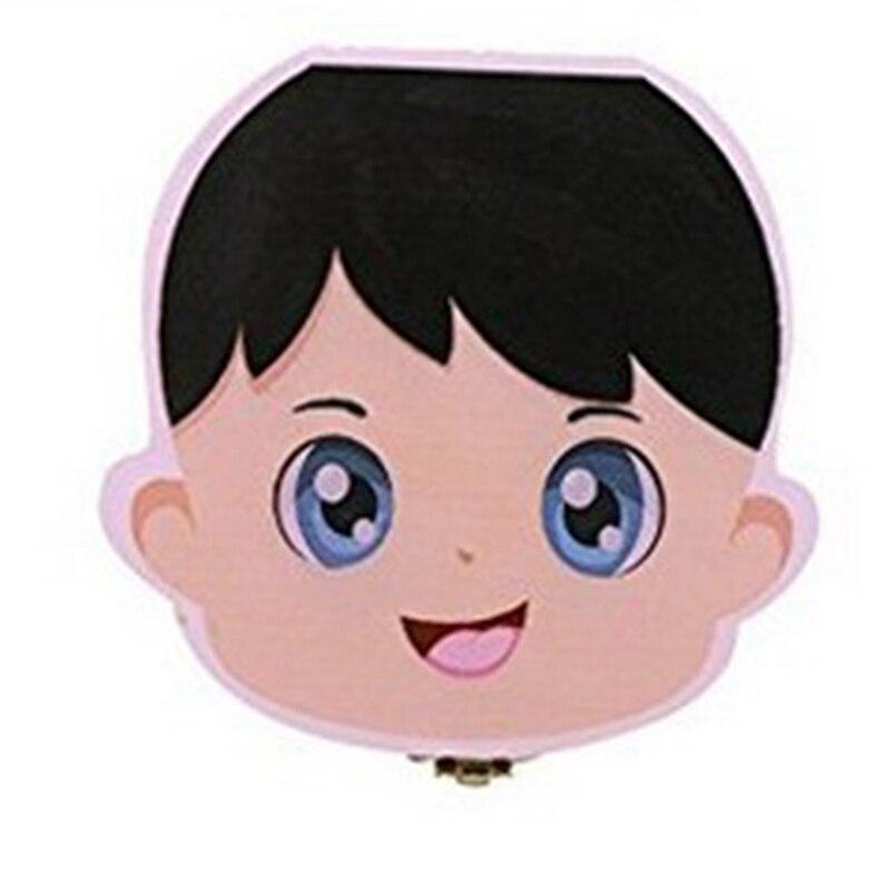Hot-New Kids Boy Tooth Box Organizer For Baby Save Milk Teeth Wood Storage Box