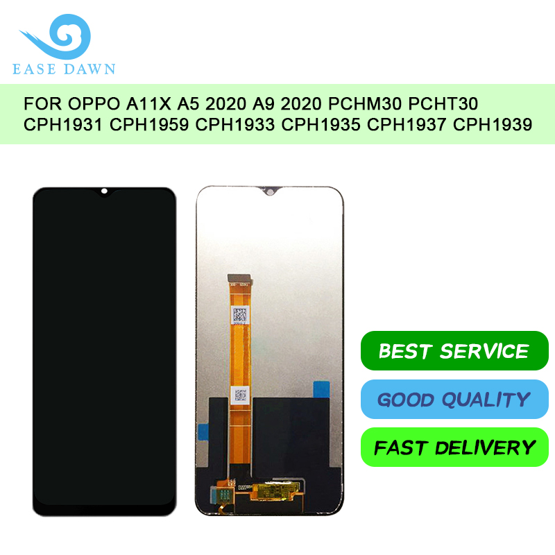 For <font><b>OPPO</b></font> A11X <font><b>A5</b></font> 2020 A9 2020 PCHM30 PCHT30 CPH1931 <font><b>LCD</b></font> IPS Display Screen Touch Digitizer Assembly For <font><b>Oppo</b></font> Display Original image