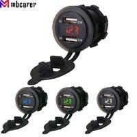 Pantalla Digital LED para coche, barco, motocicleta, ATV, RV, Campers, tractores, enchufe cargador Dual USB, impermeable, 4.2A