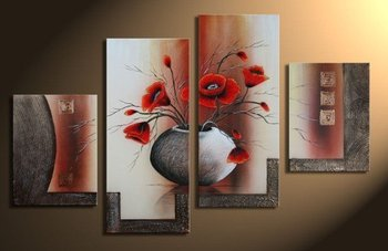 Abstract Paintings for Living Room Wall Flowers 4 Piece Abstract Floral on the wall Bedroom Home Decor