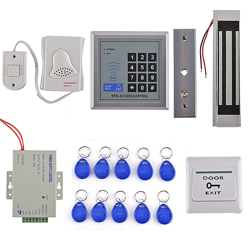500 User RFID Access Control System Device Machine Security 125Khz RFID Proximity Entry Door Lock Card Reader Door Lock System