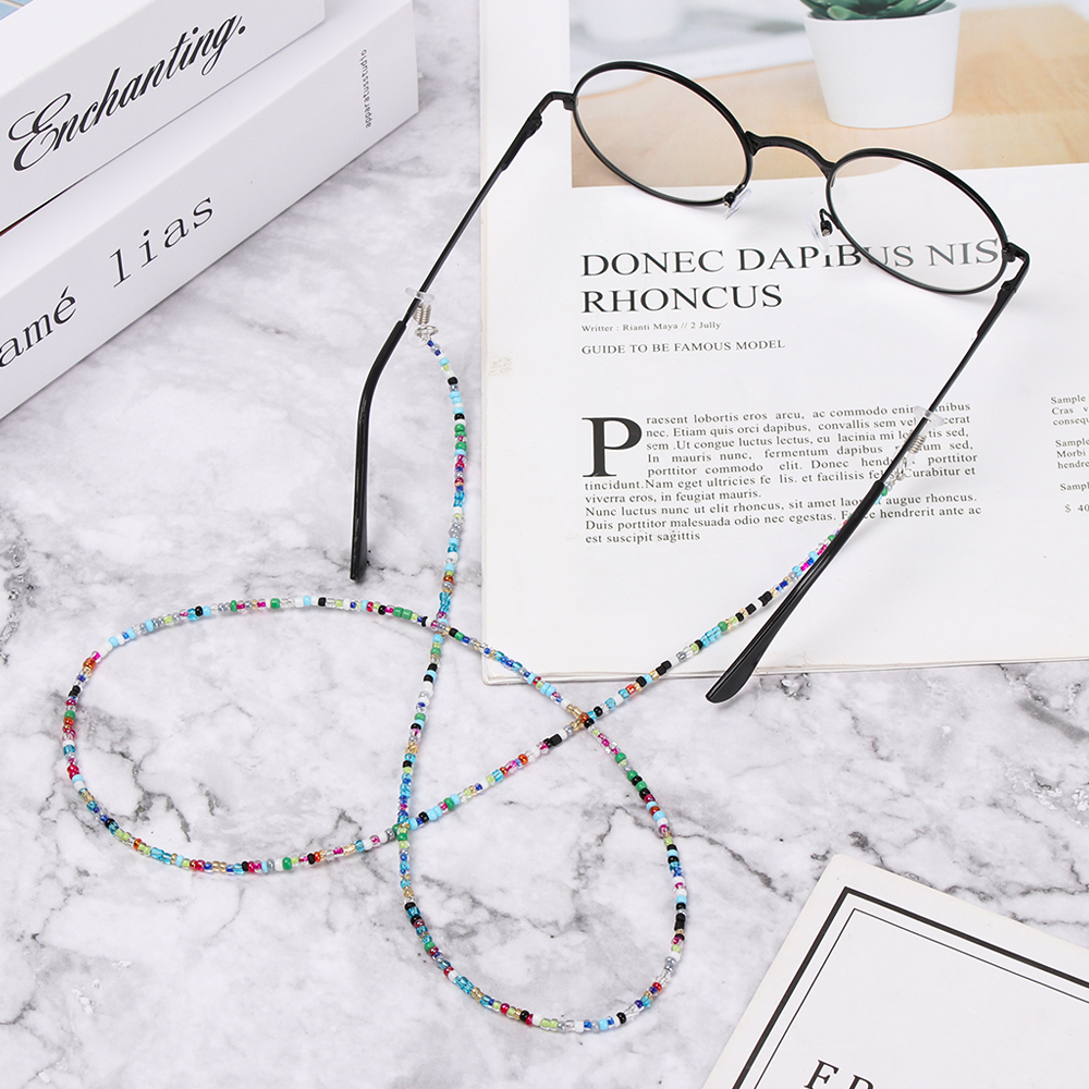 61/75cm Colorful Acrylic Beads Chain Sunglasses Chains Women Reading Glasses Cord Holder Neck Strap Rope For Eyewear Accessories