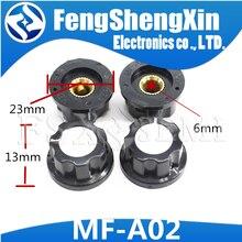 10 шт., ручка потенциометра WH118/WX050 bakelite/медное внутреннее отверстие 6 мм