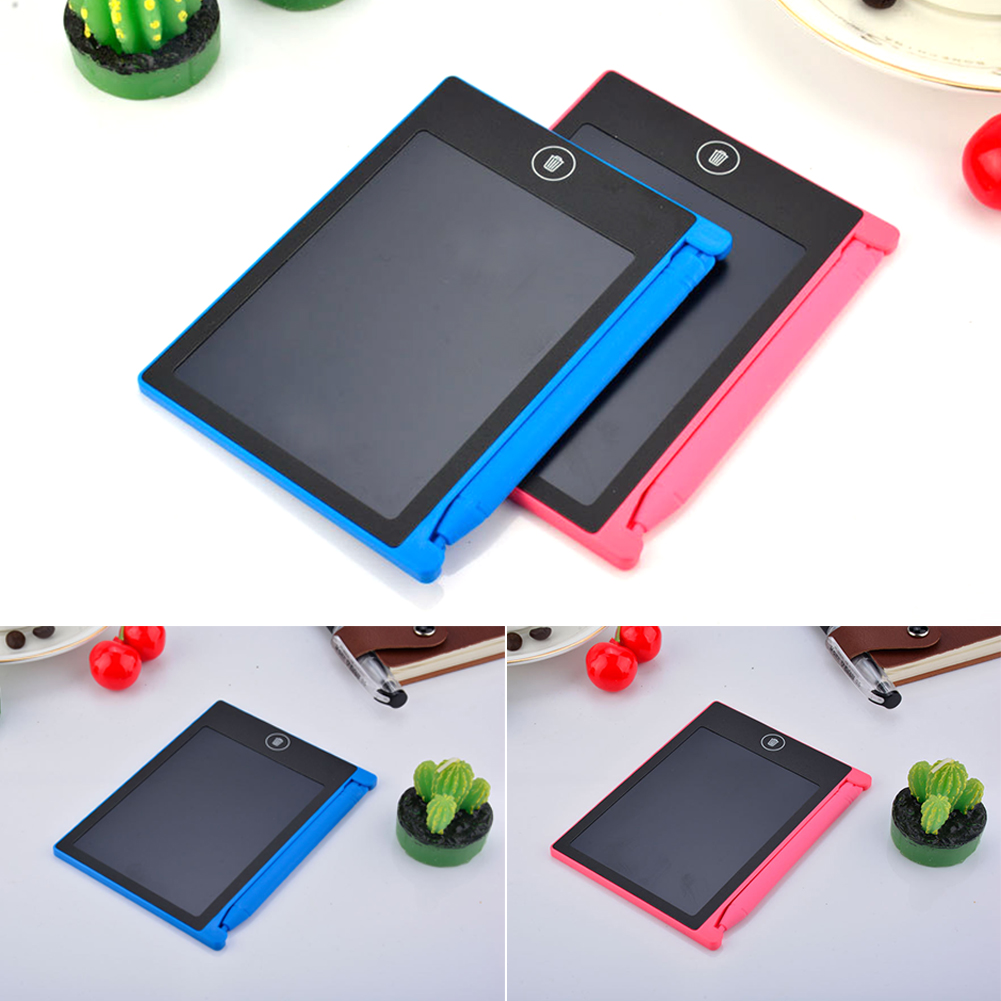 4 4 inch Office Tablet Writing Board Students LCD Writing Pad Graphics Board Paperless Drawing Family Learning Tool With Pen in Tablet LCDs Panels from Computer Office
