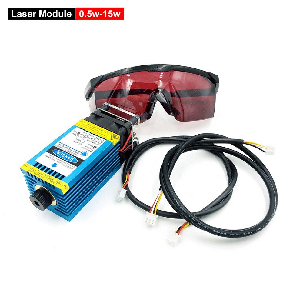 0,5 w-15w Laser Modul Einstellbarer Fokus Für CNC 3018 Serie Laser Stecher DIY Holz Route Gravur Maschine Ersatz Zubehör