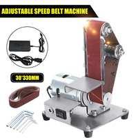 Mini Electric Belt Machine Sander 350W Sanding Grinding Polishing Machine Abrasive Belt Grinder Polisher Cutter Edges Power Tool