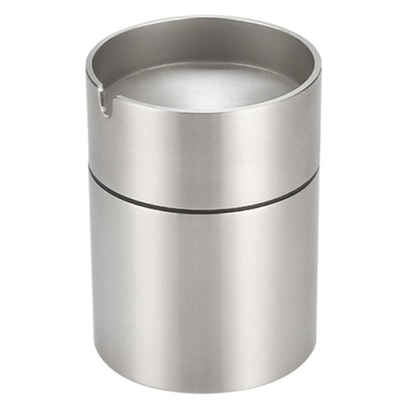 Stainless Steel Car Ashtray Smokeless Auto Cigarette Ashtray Ash Holder Creative Windproof Business Gift Car Car With Lid Ashtra